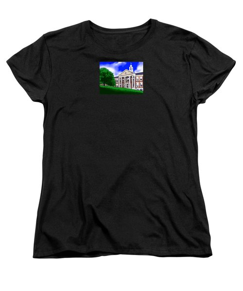 Women's T-Shirt (Standard Cut) featuring the painting The Hill by Jean Pacheco Ravinski