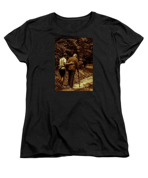 Women's T-Shirt (Standard Cut) featuring the photograph The Journey by Michael Nowotny