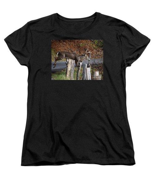 The Jumper 2 Women's T-Shirt (Standard Cut) by Douglas Stucky