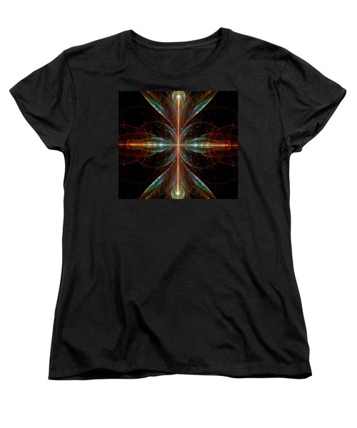 Women's T-Shirt (Standard Cut) featuring the digital art The Light Within by Lea Wiggins