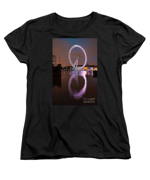 The London Eye Women's T-Shirt (Standard Cut) by Nichola Denny