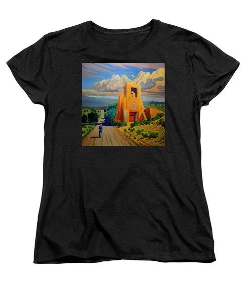 The Long Road To Santa Fe Women's T-Shirt (Standard Cut) by Art West