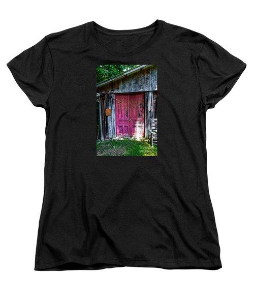 The Magenta Doors Women's T-Shirt (Standard Cut) by Paul Mashburn