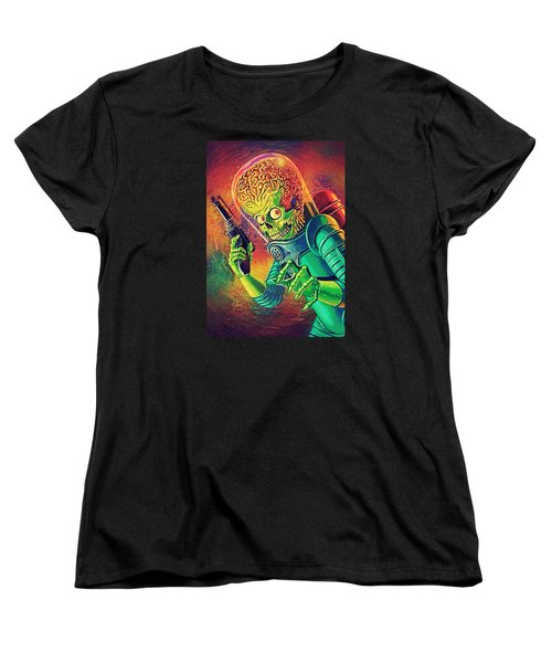 The Martian - Mars Attacks Women's T-Shirt (Standard Cut) by Taylan Apukovska