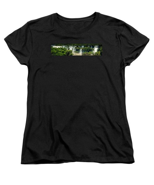 Women's T-Shirt (Standard Cut) featuring the photograph The Mighty Iguazu  by Andrew Matwijec