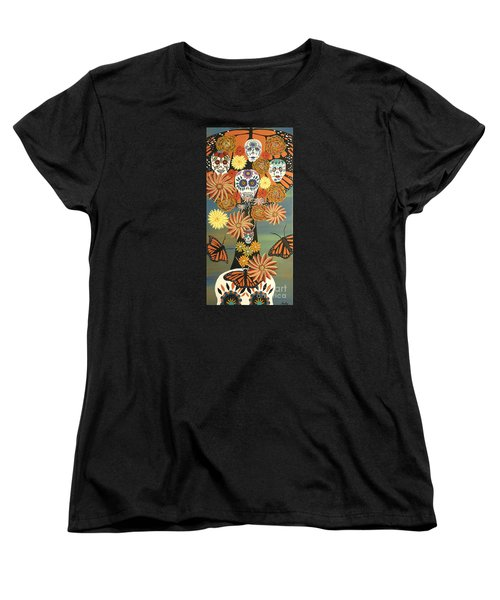 The Monarch's Tree Of Life And The Dead - Day Of The Dead Women's T-Shirt (Standard Cut)