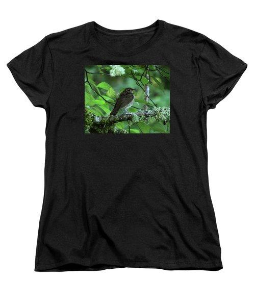 ..the Mysterious Thrush.. Women's T-Shirt (Standard Cut) by I'ina Van Lawick
