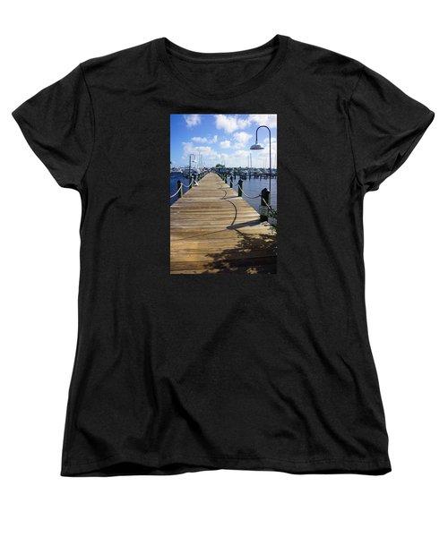 The Naples City Dock Women's T-Shirt (Standard Cut) by Robb Stan