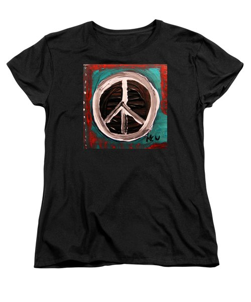 Women's T-Shirt (Standard Cut) featuring the painting The Need Continues by Mary Carol Williams