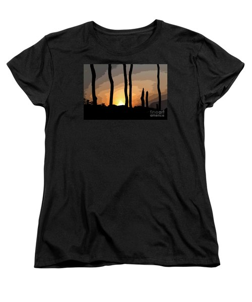 Women's T-Shirt (Standard Cut) featuring the photograph The New Dawn by Tom Cameron