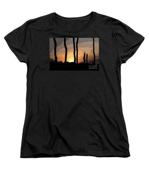 The New Dawn Women's T-Shirt (Standard Cut) by Tom Cameron