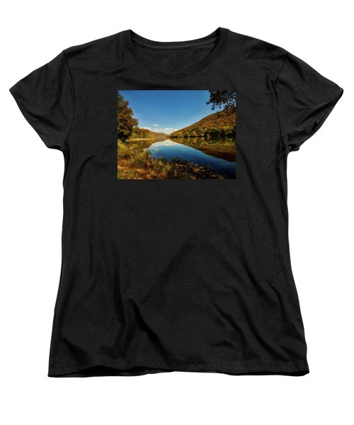 The New River In Autumn Women's T-Shirt (Standard Cut) by L O C