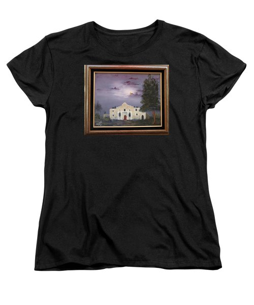 Women's T-Shirt (Standard Cut) featuring the painting The Night Before by Al Johannessen