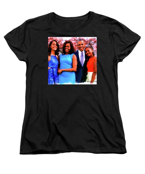 The Obama Family Women's T-Shirt (Standard Cut) by Ted Azriel
