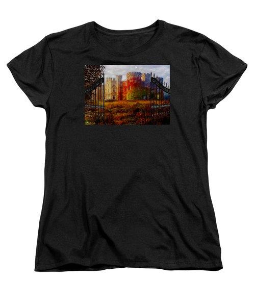 The Old Haunted Castle Women's T-Shirt (Standard Cut) by Michael Rucker