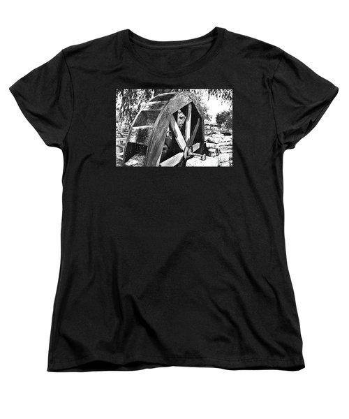 The Old Waterwheel Women's T-Shirt (Standard Cut) by Ray Shrewsberry