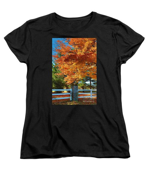 Women's T-Shirt (Standard Cut) featuring the photograph The Old Yard Light by Robert Pearson