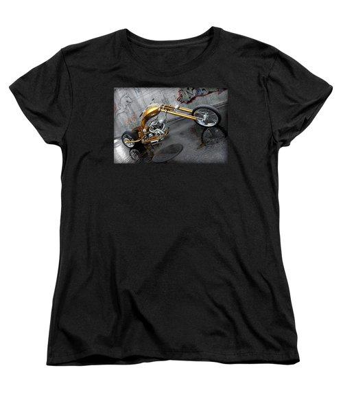 The Orange City Chopper Women's T-Shirt (Standard Cut) by David Collins