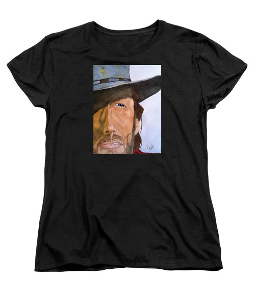 Women's T-Shirt (Standard Cut) featuring the painting The Outlaw Josey Wales by Rand Swift
