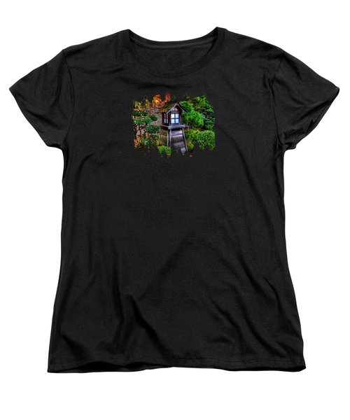 The Pagoda At The Japanese Gardens Women's T-Shirt (Standard Cut) by Thom Zehrfeld