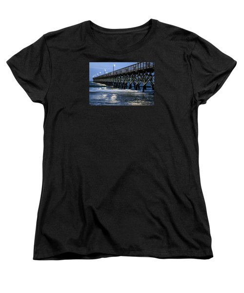 The Pier At The Break Of Dawn Women's T-Shirt (Standard Cut) by David Smith