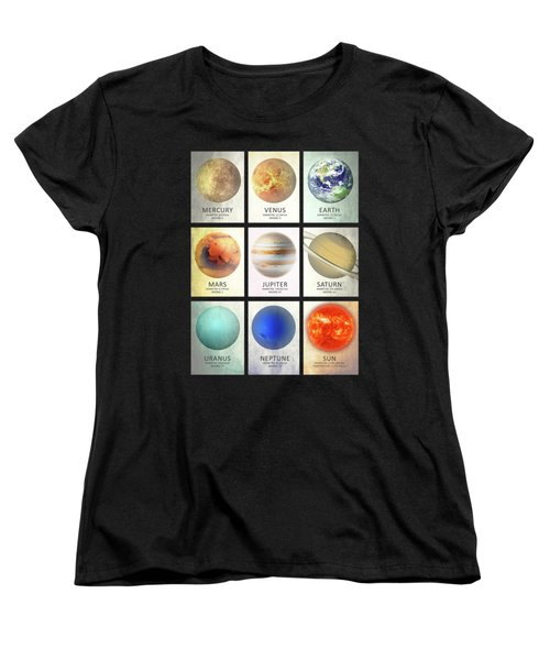 The Planets Women's T-Shirt (Standard Cut) by Mark Rogan