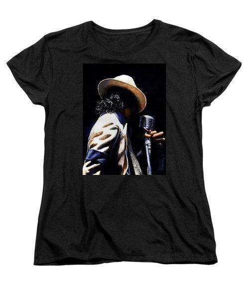 The Pop King Women's T-Shirt (Standard Cut) by Emerico Imre Toth