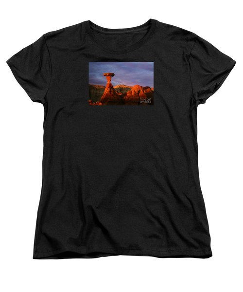 Women's T-Shirt (Standard Cut) featuring the photograph The Rim Rocks by Keith Kapple