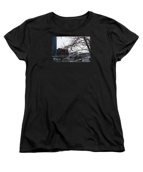 The River Divide Women's T-Shirt (Standard Cut) by Linda Shafer