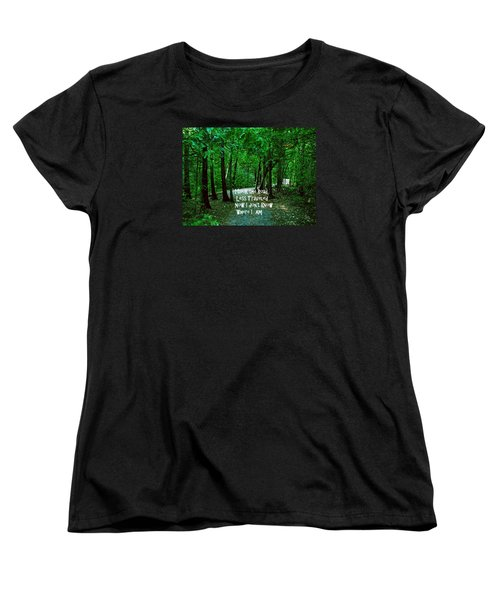 Women's T-Shirt (Standard Cut) featuring the photograph The Road Less Traveled by Gary Wonning