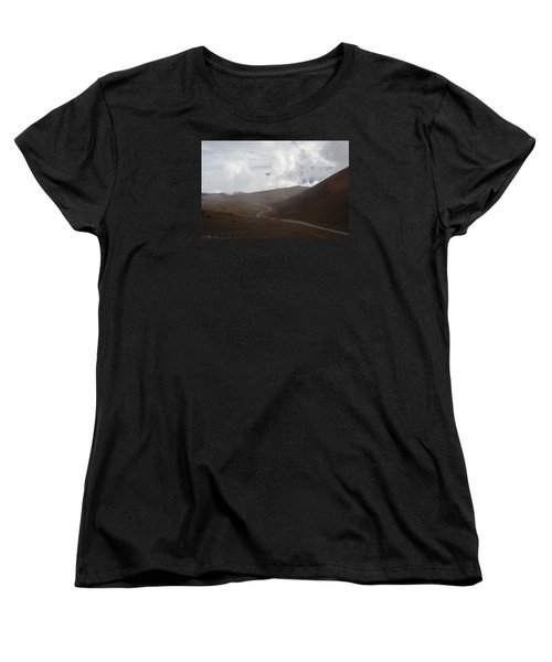 Women's T-Shirt (Standard Cut) featuring the photograph The Road To The Snow Goddess by Ryan Manuel