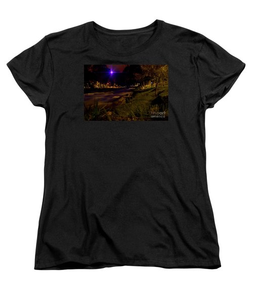 Women's T-Shirt (Standard Cut) featuring the photograph The Rushing Rio Tomebamba IIi by Al Bourassa
