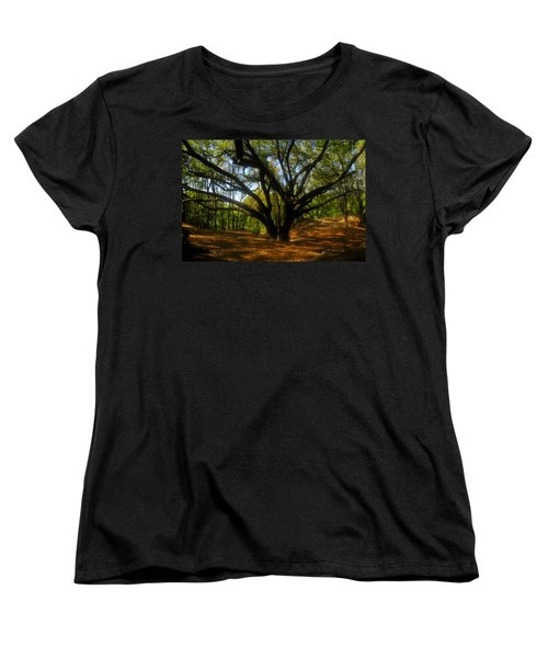 The Sacred Oak Women's T-Shirt (Standard Cut) by David Lee Thompson