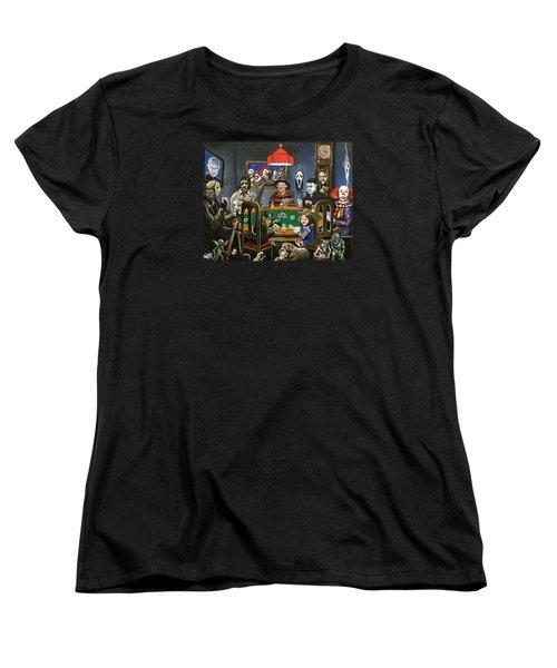 The Second Horror Game Women's T-Shirt (Standard Cut) by Tom Carlton