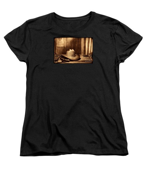 The Sheriff Office Women's T-Shirt (Standard Cut) by American West Legend By Olivier Le Queinec