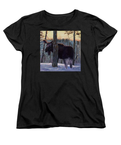 Women's T-Shirt (Standard Cut) featuring the painting The Shy One by Billie Colson