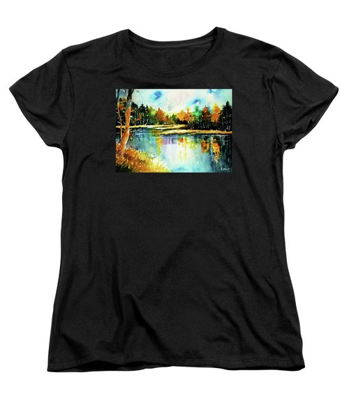 The Splendor And  Color Of Autumn Women's T-Shirt (Standard Cut) by Al Brown