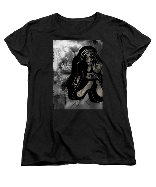 Women's T-Shirt (Standard Cut) featuring the drawing The Struggle Within by Sheila Mcdonald