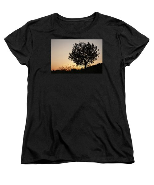 Sunset On The Hill Women's T-Shirt (Standard Cut) by Yoel Koskas