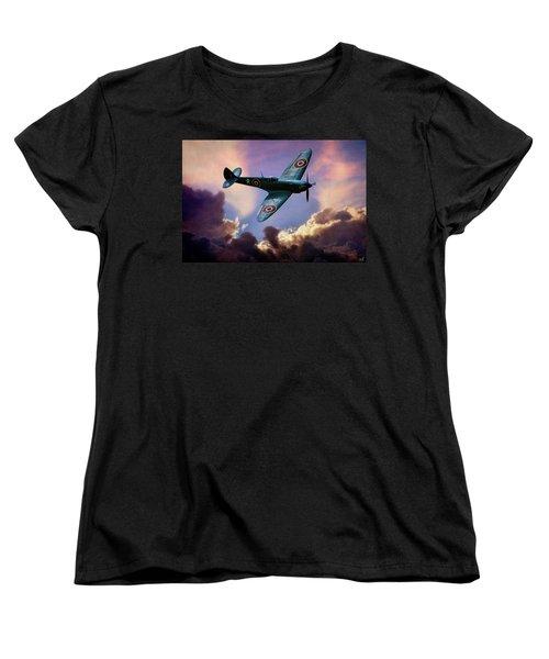 The Supermarine Spitfire Women's T-Shirt (Standard Cut) by Chris Lord