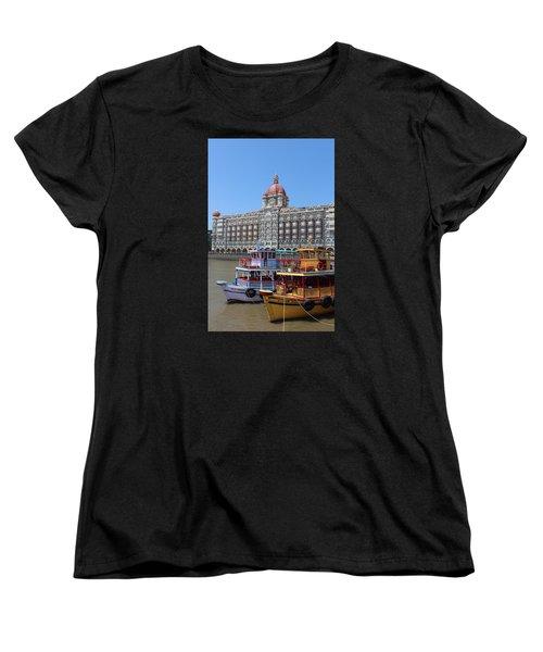 The Taj Palace Hotel And Boats, Mumbai Women's T-Shirt (Standard Cut) by Jennifer Mazzucco