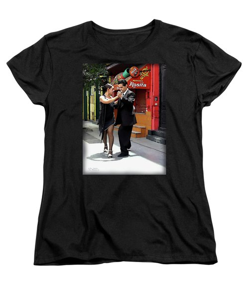 The Tango Women's T-Shirt (Standard Cut) by Joan  Minchak
