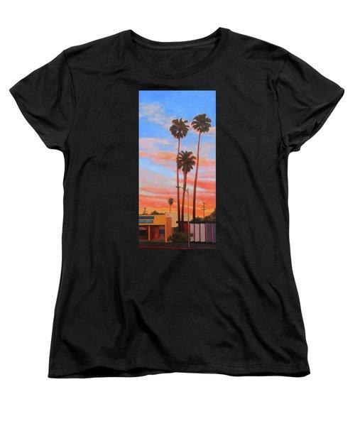 The Three Palms Women's T-Shirt (Standard Cut) by Andrew Danielsen