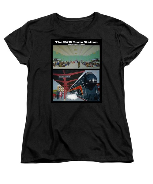 The Train Station At Portsmouth Ohio Women's T-Shirt (Standard Cut) by Frank Hunter