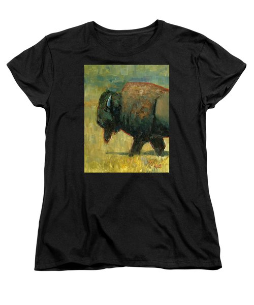 Women's T-Shirt (Standard Cut) featuring the painting The Traveler by Billie Colson
