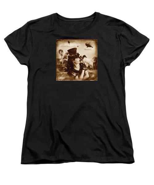 The Traveler Vintage Sepia Version Women's T-Shirt (Standard Cut) by Alessandro Della Pietra