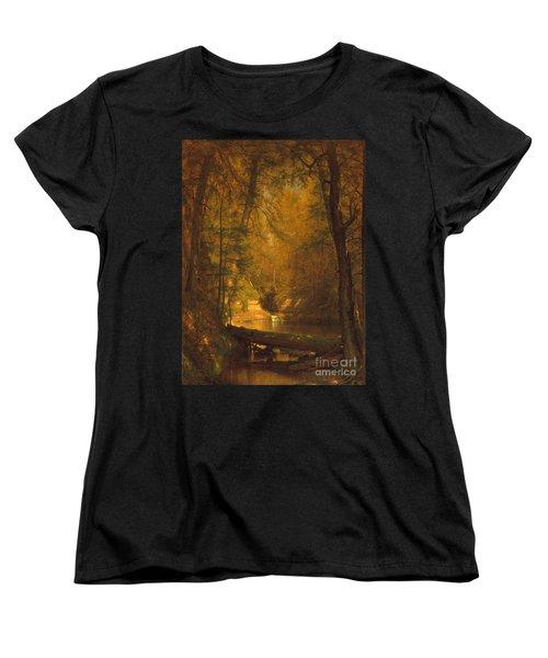 The Trout Pool Women's T-Shirt (Standard Cut) by John Stephens