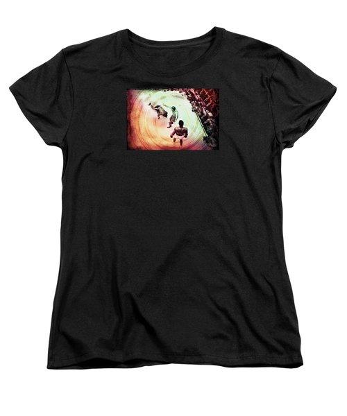 The Upset Women's T-Shirt (Standard Cut) by Allen Beilschmidt