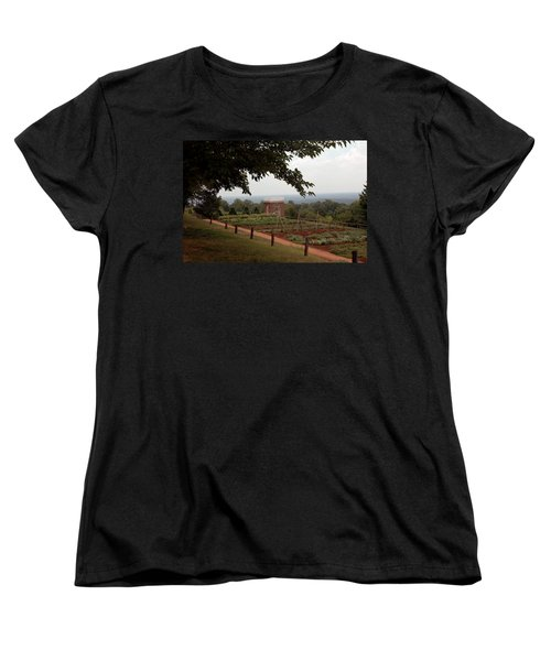 The Vegetable Garden At Monticello Women's T-Shirt (Standard Cut) by LeeAnn McLaneGoetz McLaneGoetzStudioLLCcom