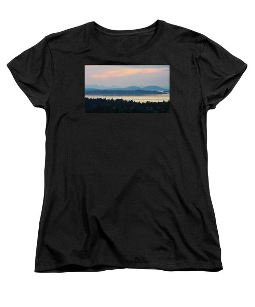 The View From Mt. Tolmie Women's T-Shirt (Standard Cut) by Keith Boone